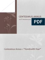 Centenimus Annus (The 100th Year)