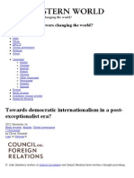 Towards democratic internationalism in a post-exceptionalist era? | Post Western World
