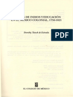 Tanck, Educación y pueblos de indios