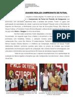 CAMPEONATO DE FUTSAL DO PRESÍDIO DE CATAGUASES DG
