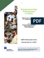 Entrepreuneurship Development in Africa