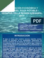 Evaluacion Economica y Manejo Del Agua Potable