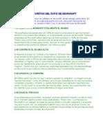 CLAVES DEL ÉXITO DE MICROSOFT