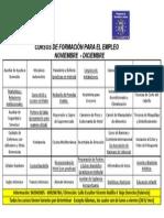 CURSOS DE FORMACIÓN AESCO VALENCIA NOV-OCT