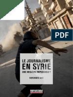Le journalisme en Syrie