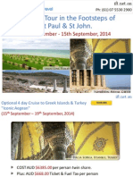 Anglican Tour in the Footsteps of St Paul & St John