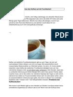 Einfluss Des Kaffees Auf Die Fruchtbarkeit