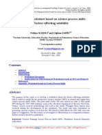Worksheet Based on Sciencce Processes