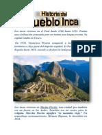 Los incas vivieron en el Perú desde 1100 hasta 1532