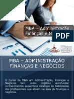 MBA - Administração, Finanças e Negócios - Grupo Educa+ EAD