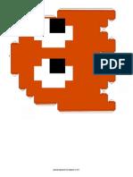 Pacman Ghost Orange