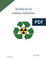Reciclaje de Los Residuos Radiactivos