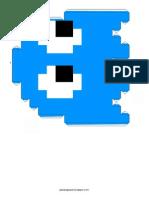 Pacman Ghost Blue