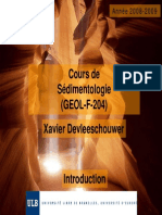 Sedimentologie Introduction 2008-09