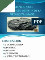 Obtencion Del Manganeso Apartir de La Pirolusita (