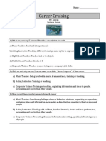 career cruising worksheet