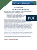 CFC Closure Message