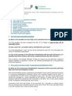 Transforming Rehabilitation Information Workshop FAQ's