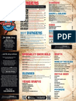 LSA Burger Co. menu
