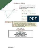 ecuacion vectorial ejemplos