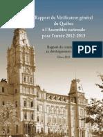 Rapport complet du commissaire au développement durable