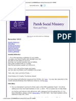November 2013 CCUSA Parish Social Ministry News and Notes
