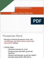 Dimensi Moral Individu