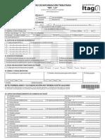 Formulario Registro de Información Tributaria - RIT- 1,0