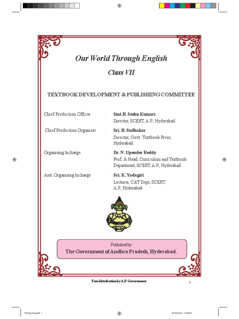 Class 7 English Text Book AP Syllabus