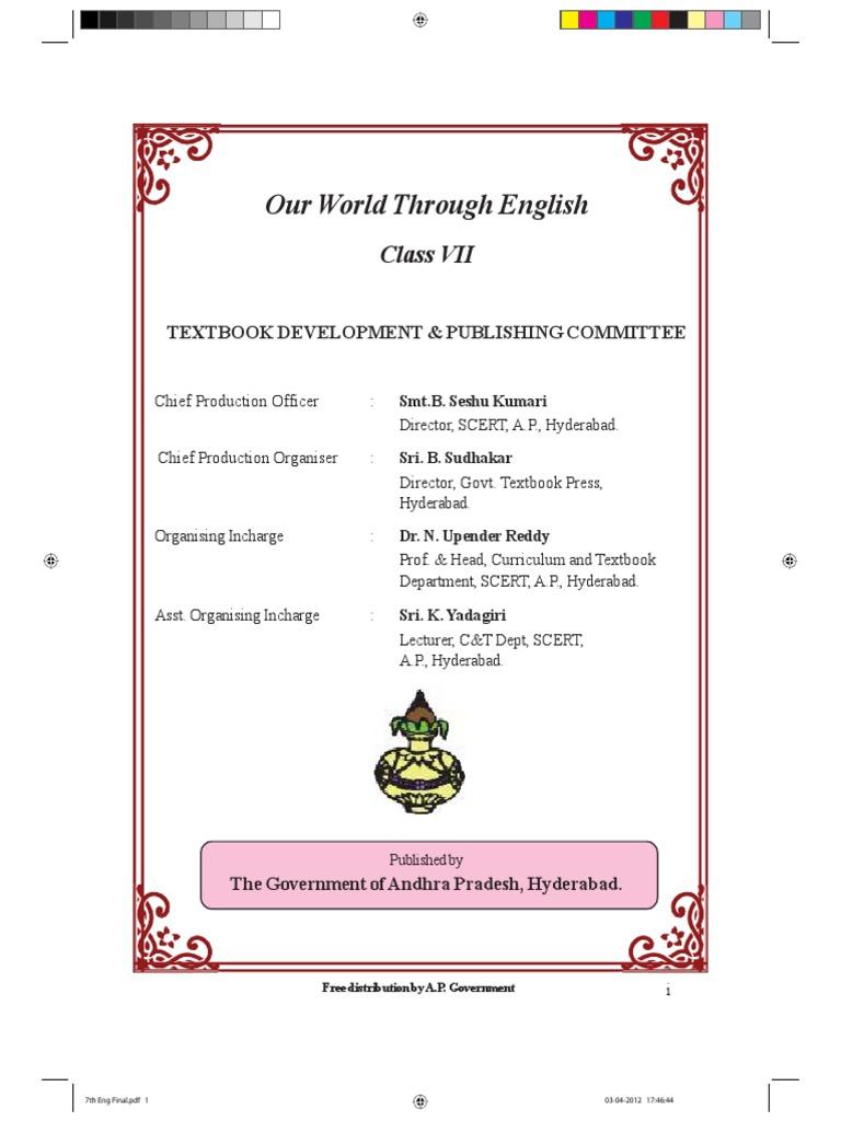 Class 7 English Text Book-AP Syllabus | Adjective | Languages