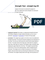 Abdominal Strength Test