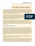 What Can You Do With a Music Degree