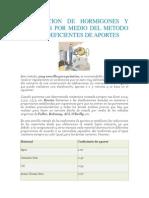 Dosificacion de Morteros Metodo de Coeficientes de Aportes
