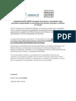 Organizaciones de DDHH entregarán documento a autoridades sobre presuntas irregularidades en procedimientos fiscales