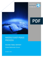 Middle East Peace Process Round Table - Report - November 2013