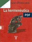 Ferraris La Hermeneutica