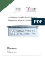 Memoria PFC Portal Web de Ayuntamiento
