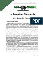 Diaz de Guzman, Ruy - La Argentina Manuscrita