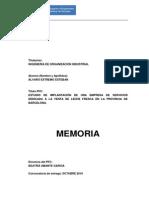 Memoria Estudio