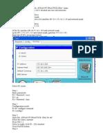 The procedure for successful  EWAN PT PRACTICE  SBA.doc