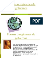Formas o Regimenes de Gobiernos[1]