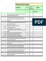ship security plan checklist