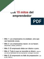 Los 15 Mitos Del Emprendedor