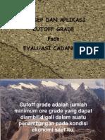 cutoff grade.ppt