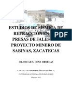 Estudios de Sismica de Refraccion en Presa