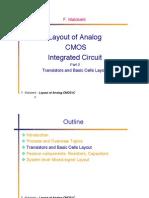 Layout of CMOS analog circuits