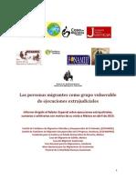 Informe al Relator de Ejecuciones Extrajudiciales, Sumarias y Arbitrarias, Organización de Naciones Unidas, marzo 2013