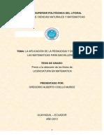 LA APLICACIÓN DE LA PEDAGOGIA Y DIDACTICA POR GREGORIO COELLO