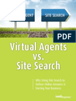 Virtual Agent vs. Site Search