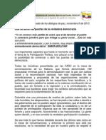 Que Se Abran Las Puertas de La Verdadera Democracia FARC